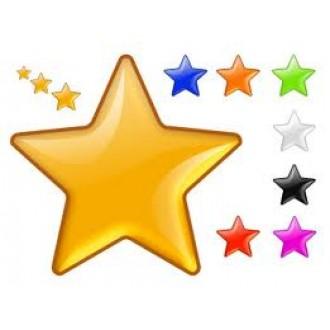 네일아트 별 글리터/12종 컬러/컬러 선택 가능/