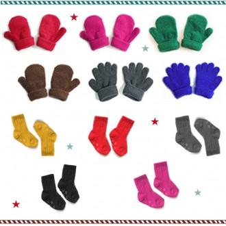 전제품KC인증/국내생산/유아동장갑 골지수면양말 수면덧신/단체선물용