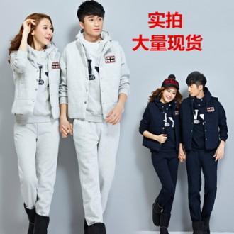 J001 트레이닝 쓰리피스/운동복/커플룩/후드티/조끼
