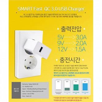 [에스엔케이]퀄컴 퀵차지 3.0고속충전기 퀵차지3.0