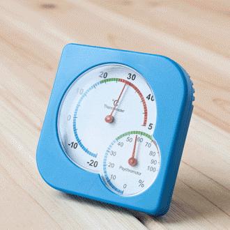 눈사람 팬시 온도계 습도계/아날로그온습도계/생활용