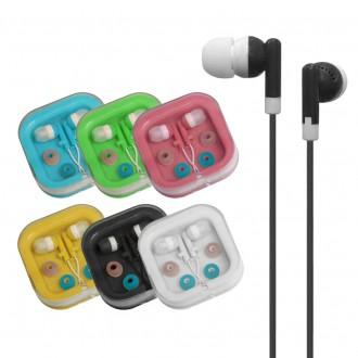 케이스포장-(칼라 무통증이어폰) 부드러운 실리콘소재
