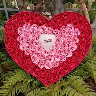 100송이 장미꽃 꽃비누 조명 이벤트 카네이션