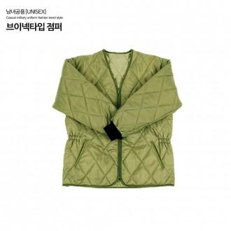 국산 패딩점퍼 깔깔이 V넥(카키) 방한복 낚시 등산복