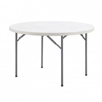 [오에이데스크]브로몰딩 원형 테이블 /접이식/가판대