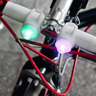 2P 반지 걸이형 LED 자전거 안전등(8cm×3cm/)자전거