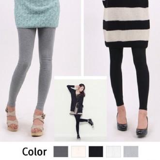 [스타일도매] M XXL 사이즈 면스판 기본레깅스/9부레