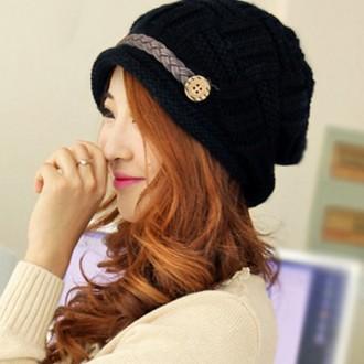 승마 니트 벙거지모자 겨울 여성 여자 뜨게 털 모자