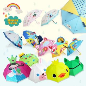 해피타운/아동 캐릭터 입체 우산/아동우산/투명우산/