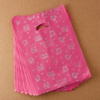 27x37cm 1p 비닐봉투 양장지봉투/핑크 베이지 검정 퍼