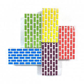 [화인아트]종이벽돌블럭 50pcs/소형/국내생산/종이블