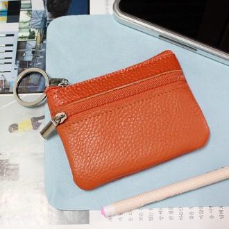 심플 인조가죽 동전지갑(오렌지) (10cm×7.5cm)/팬시