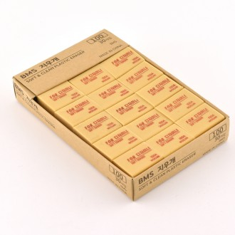 100 BMS 플라스틱 지우개 1박스(30개입)