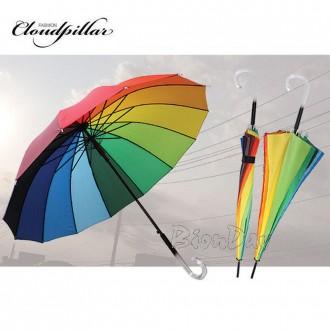 클라우드필라 14k무지개곡자우산 무지개아동우산 장우