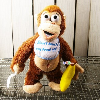 n10195/바나나 원숭이 작동인형/바나나를 뺏으면 울며