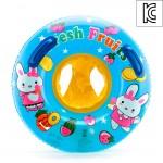 60cm 원형 손잡이 보행기 튜브(노랑)(3 4세용)-국산