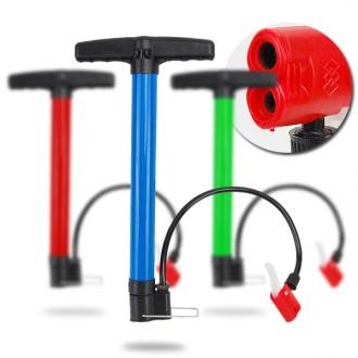 원터치 노즐형 멀티펌프 자전거 펌프 에어펌프 공기주