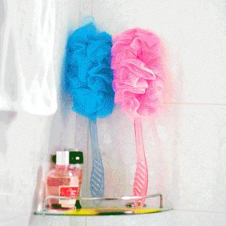 심플 파스텔 손잡이 샤워타월(42cm×11cm)/욕실용품