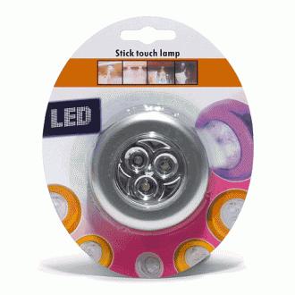 3구 LED 터치 라이트(지름 7cm×2cm)