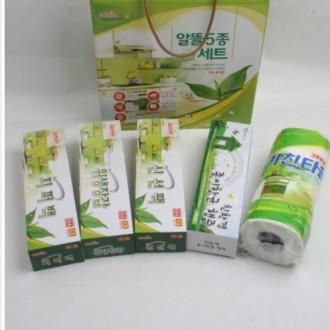 크린손 알뜰5종세트 지퍼팩 롤팩 위생장갑 종이행주