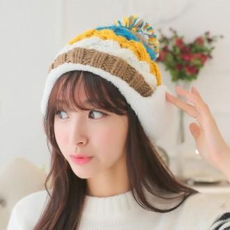 [드림아트3]레인보우 니트 모자/겨울비니/겨울모자