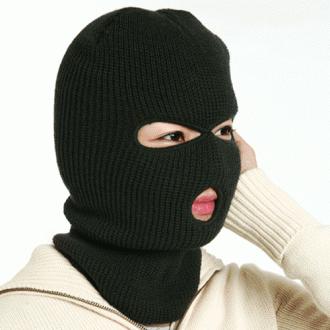 혹한용방한모자/마스크모자/니트챙모자/귀마개/바람막