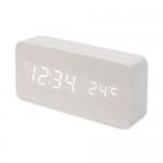 HICKIES 소리에 반응하는 원목스타일 LED 시계 ZEN SQUARE