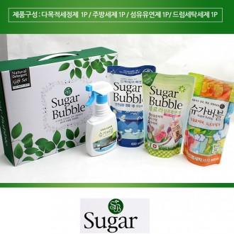 슈가버블 4종세트 섬유탈취제/다목적세정제/돌답례품