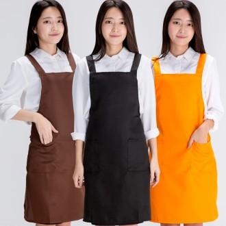 심플앞치마-커피숍 주방 서빙용 단체복 추천