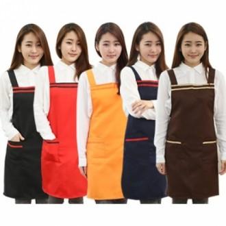 라인앞치마-커피숍 주방 서빙용 단체복 추천