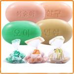 국산 미용비누 3p 90g 오이/살구/인삼/우유/업소용비누/세수비누/목욕
