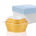 친환경 아동식기 볼3종세트 Bowl Set 3pcs Yellow