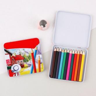 1500 12색 틴케이스 미니 색연필