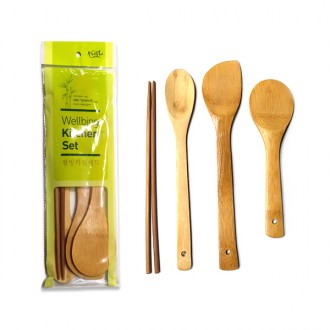 [잡동산이] 주걱세트/웰빙키친세트/조리도구세트/대나