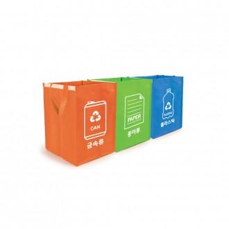 [잡동산이] 재활용분리수거함/분리수거함(3개입)/쓰레
