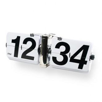 인테리어소품 벽걸이형 메탈 플립 WALL CLOCK 화이트