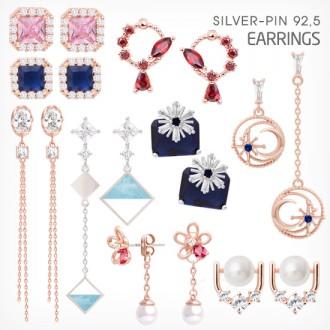 샤랄라 은침 Silver-pin 92.5 귀걸이 AE코드