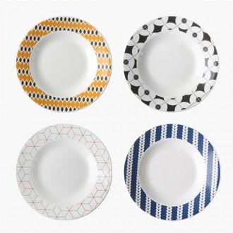 데이 플레이트1P (4가지 디자인 선택) /깊은 접시/찬