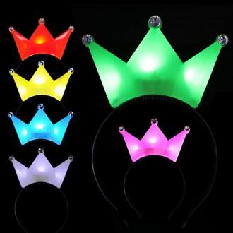 왕관머리띠 LED머리띠 야광 공연 행사용 발광머리띠