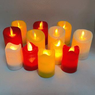 움직이는 LED 전자 양초(소) - 촛불