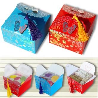 은박 나비 선물상자(11.5cm*11.5cm*7.5cm)