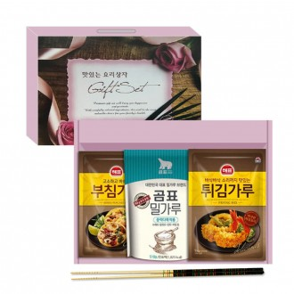큐원 부침가루3p 참부침가루+참튀김가루 명절선물세트