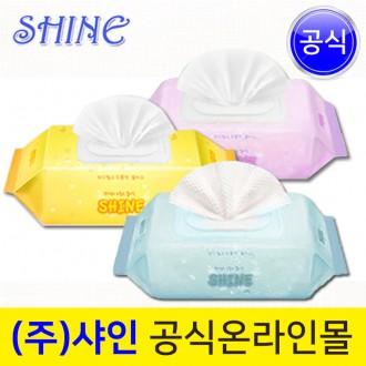 깔끔파랑 더건강한 샤인아기물티슈/100매(캡형)파워샵