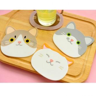 고양이컵받침대 컵받침 코스터