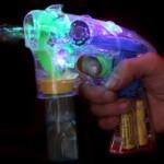 [마이도매]KC인증 자동버블건/투명LED 비누방울총/리