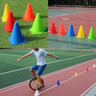 칼라콘(18x13cm) 반환점 트레이닝 훈련용콘 체육대회