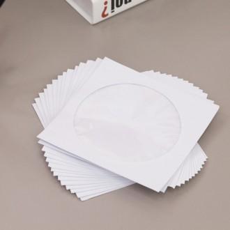 화이트 CD 케이스 100P/시디/DVD/종이/보관/정리