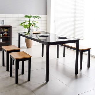 철제식탁세트 4인용식탁 테이블 철제책상