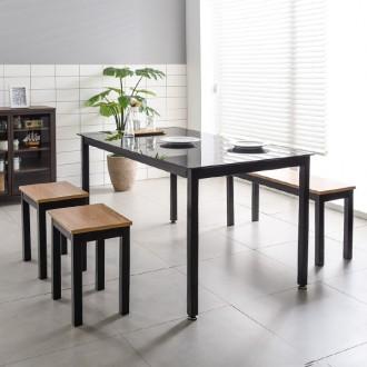 식탁의자세트 철제식탁세트 사무실테이블 철제책상