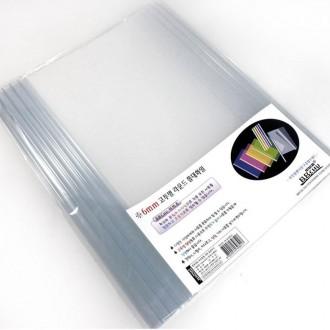 화일 투명 쫄대화일 6mm/라운드 화일 투명 화일 황화